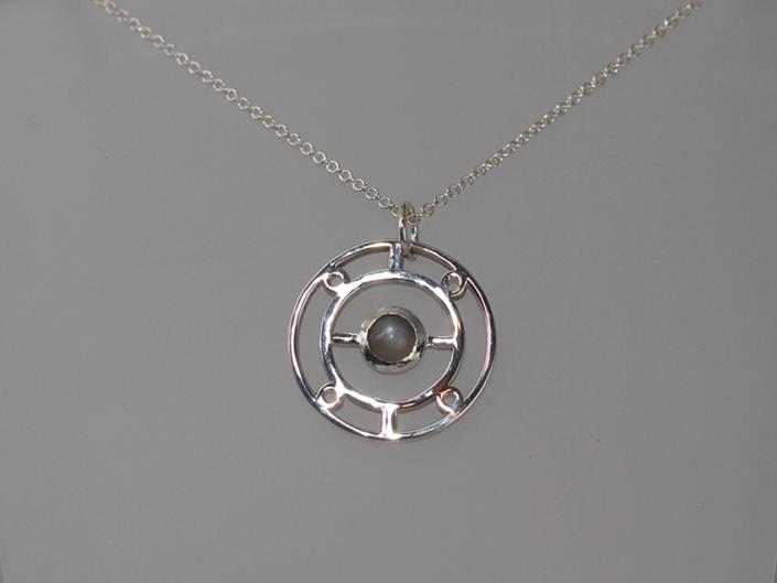 Circle Moon Pendant