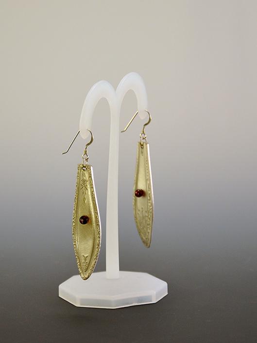 Antique spoon earrings