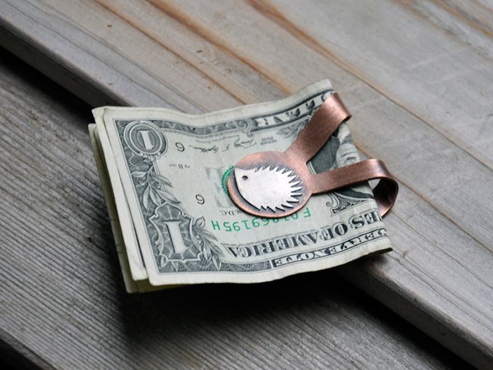 Hedgehog Money Clip
